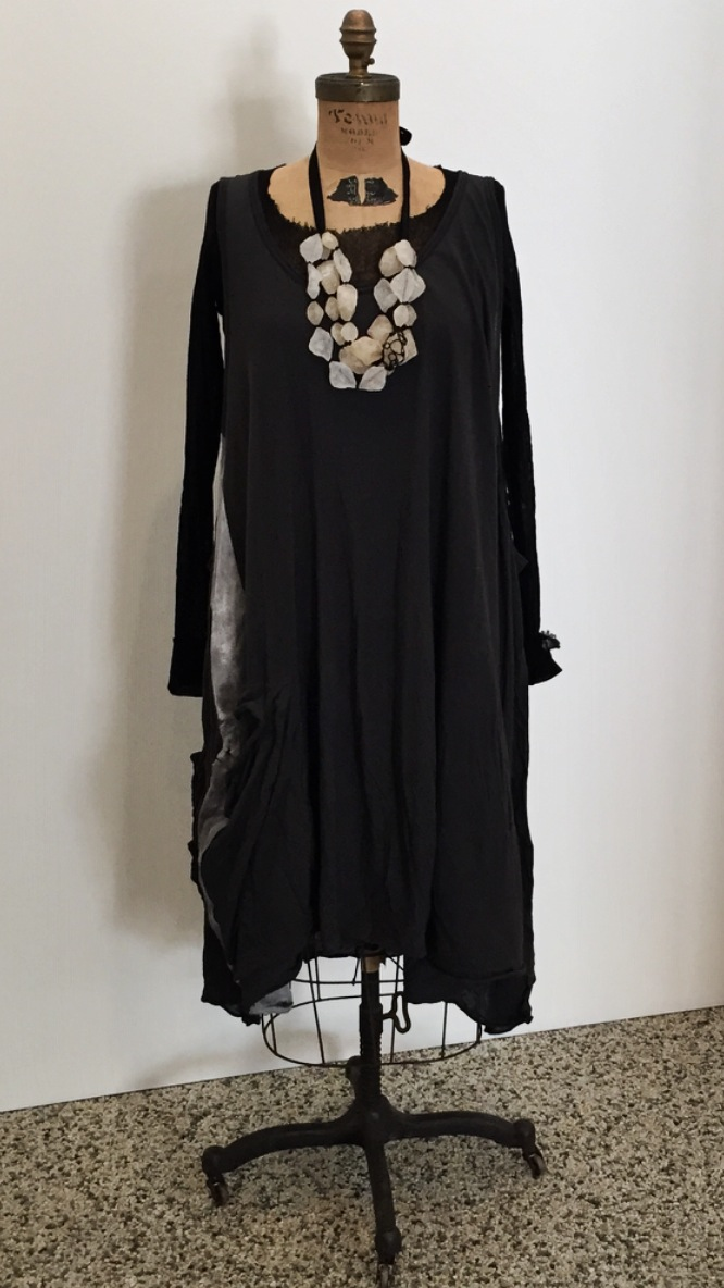 Rundholz Dress and Rundholz sheer top, Maria Calderara Necklace