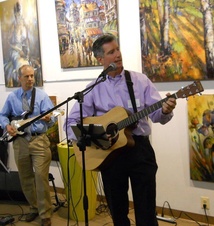 Cantor Abramowitz and Ken Fine sing the crowd into Hanukkah at our public debut in 2014