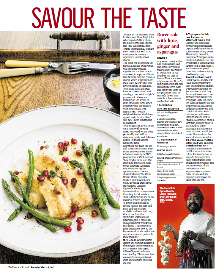 Tony's Dover Sole recipe in the Press & Journal
