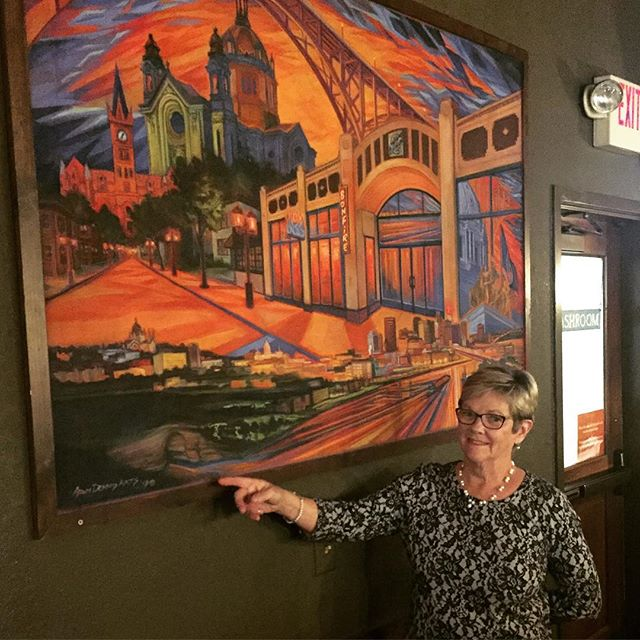 Happy Mother's Day to a mom who has always been supportive and challenging in all the right ways. One of the best art career rewards is when she happens across my pieces around town and sends pics. Here she is spotting a large chalkwork at  @bonfiregrandave.