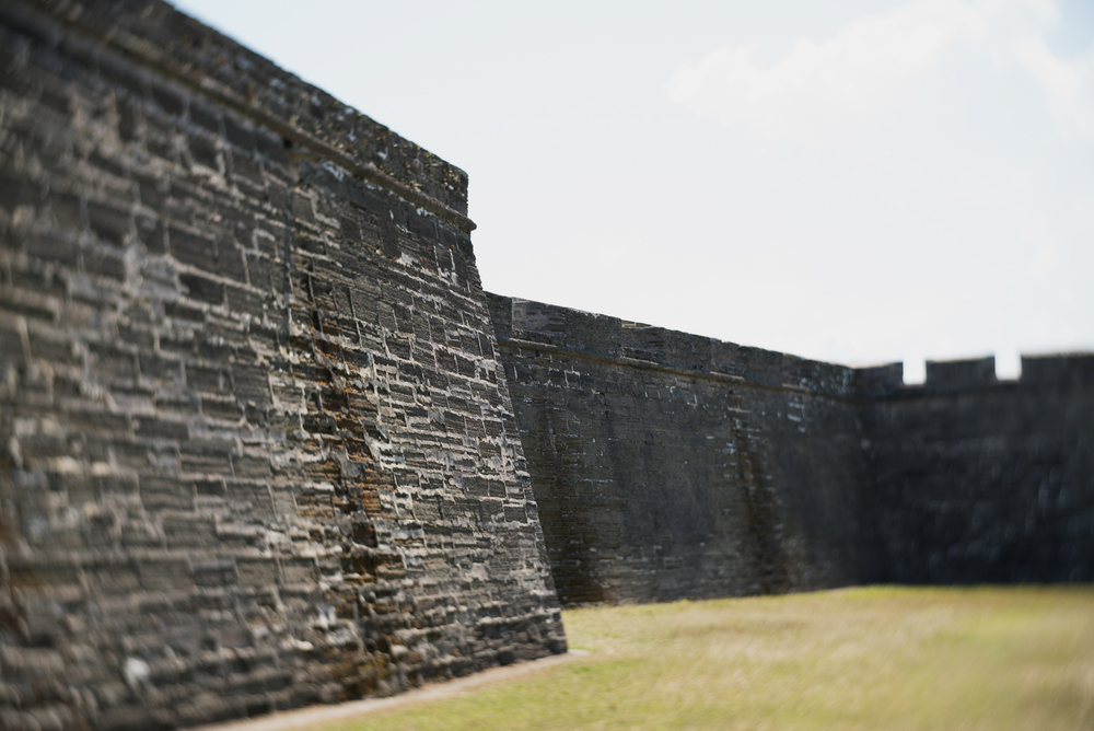 The Castillo de San Marcos National Monument in St. Augustine, Florida is the oldest masonry fort in the U.S. Construction began in 1672.