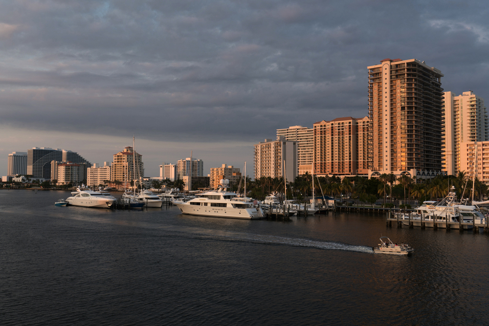 Map: 1.  Looking across the the New River toward Fort Lauderdale Beach.