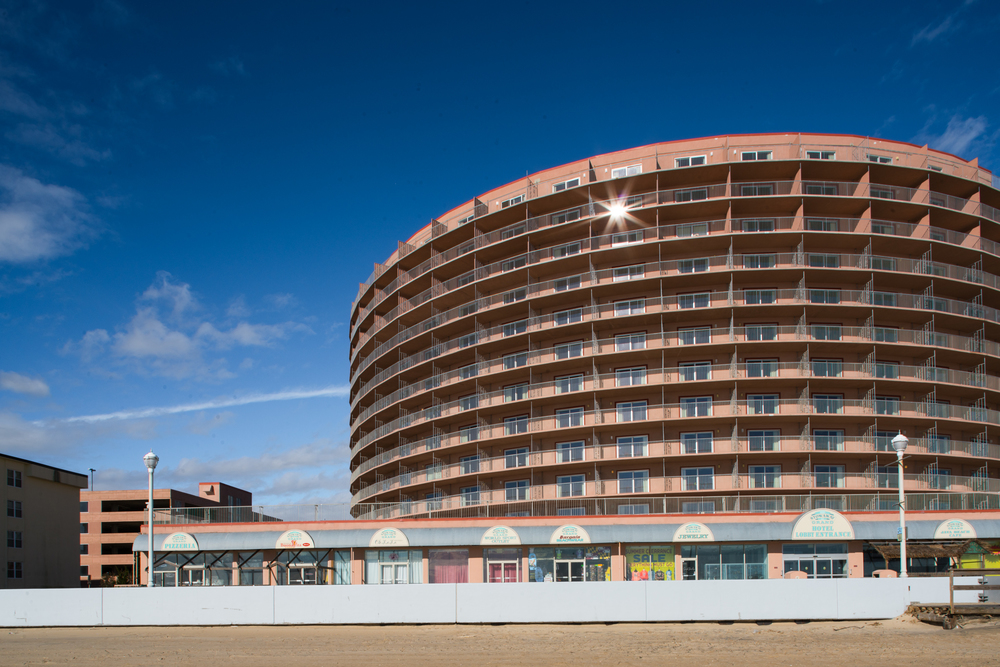 Beachfront hotel, Ocean City, Maryland