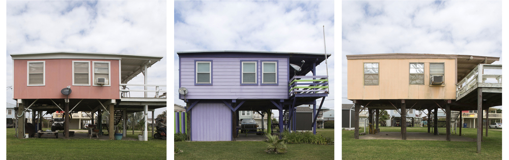 A community on stilts, Surfside, Texas