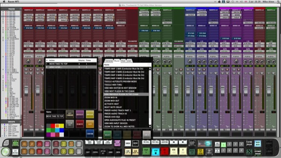 screenshot of the slate raven version 2.0 software running with Pro tools 11.1.3