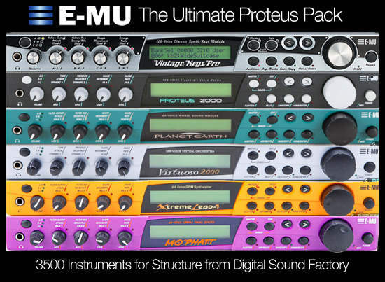 DSF Proteus Pack 3500 Instrument Sample Library