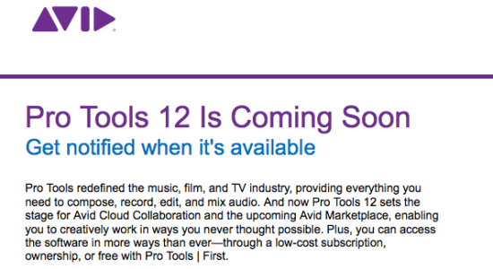 Pro Tools 12 Sign-Up Screen Leaked - With Avid Pro Tools | First - NAMM 2015