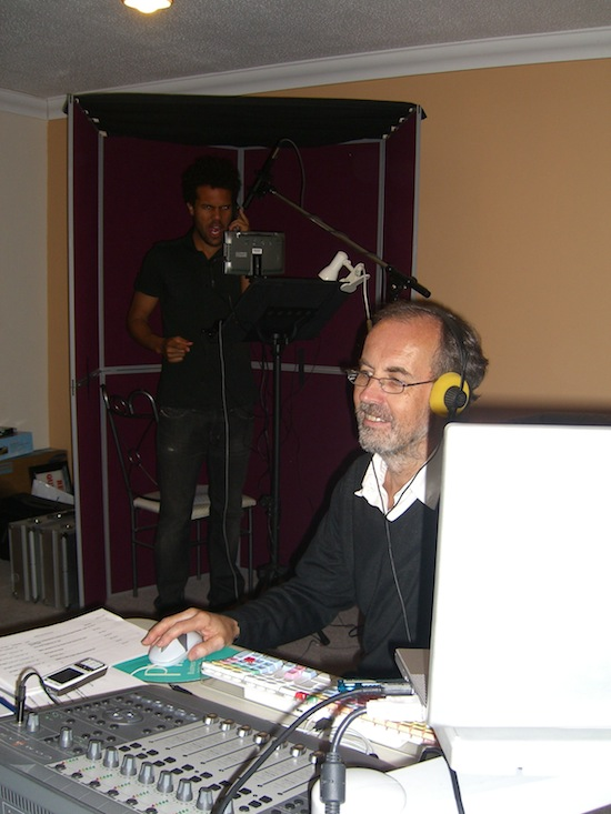 David Humphries doing ADR on location.JPG