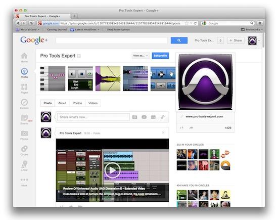 Pro Tools Expert Google+