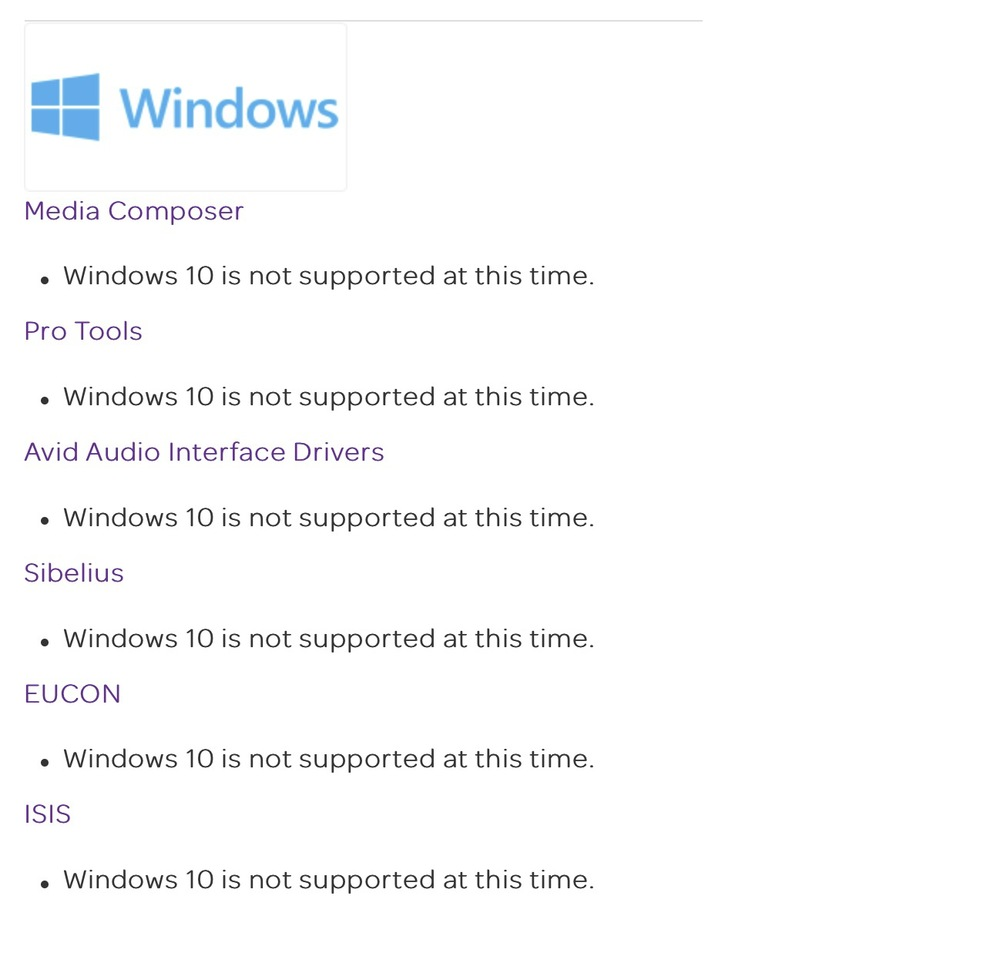 Pro Tools  Windows 10 Support For Pro Tools