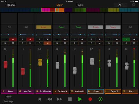 Pro Tools Control iPad App
