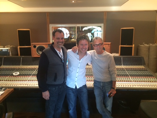 James with mixing legends Al Schmitt and Steve Genewick