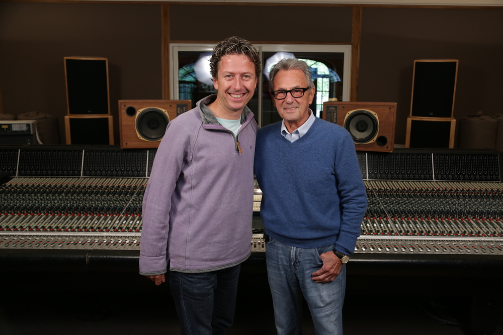 James with Al in front of the stunning Neve 88R console at Mix With The Masters