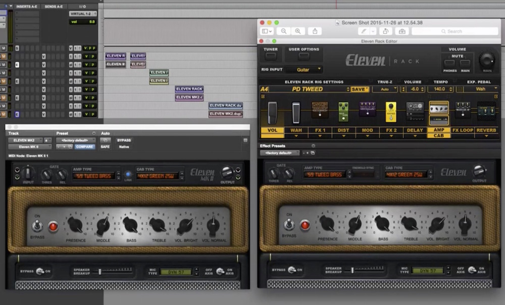 avid eleven mark ii plugin compared with eleven rack pro tools expert. Black Bedroom Furniture Sets. Home Design Ideas