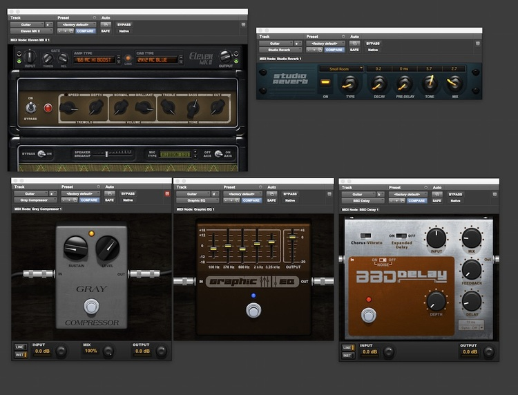 pro tools free eleven rack presets for use in pro tools