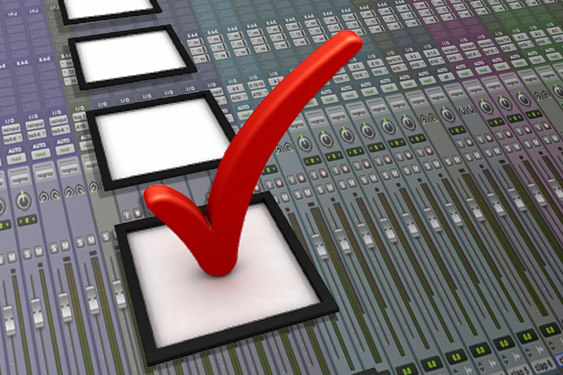 pro tools check list