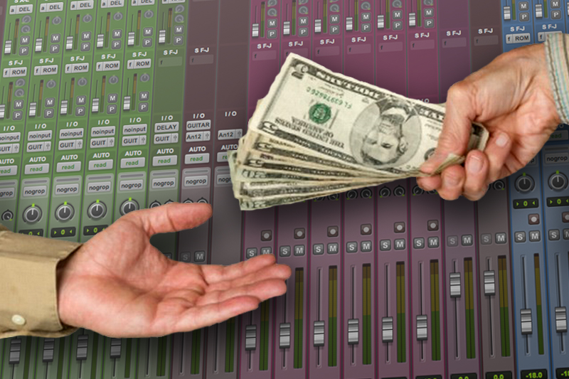 get paying clients recording studio