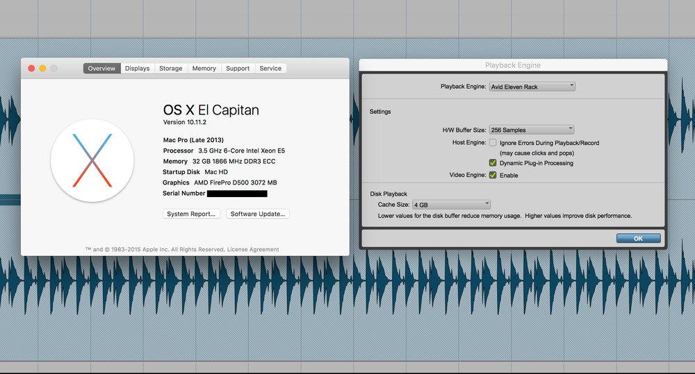 pro tools avid eleven rack driver 1 2 8 released now mac os x el capitan compatible. Black Bedroom Furniture Sets. Home Design Ideas
