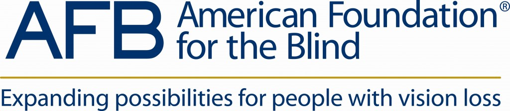 Fig: American Foundation for the Blind logo. Expanding possibilities for people with vision loss.