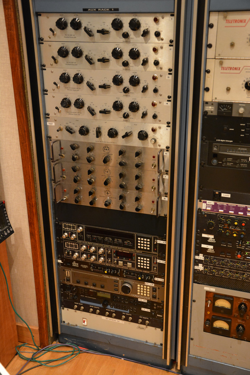 Rack 1 in the control room of Studio B