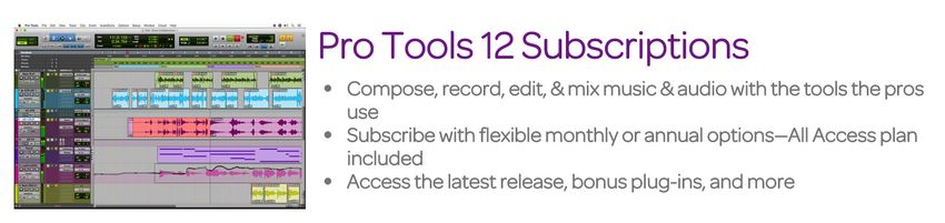 Pro Tools 12 Subscriptions