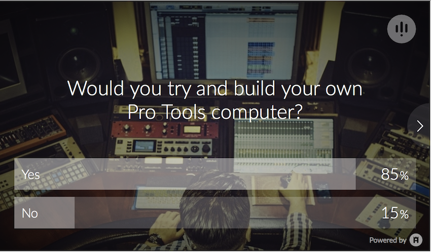 Pro Tools Computer Build Poll