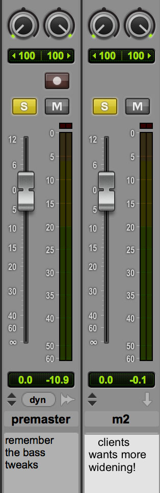 Track Info Text In Pro Tools