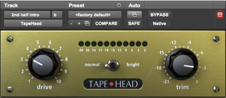 Massey Tapehead Plugin Available in Pro Tools