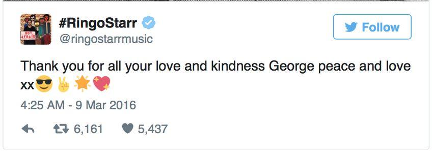 Ringo Starr Tweet About Death Of Sir George Martin