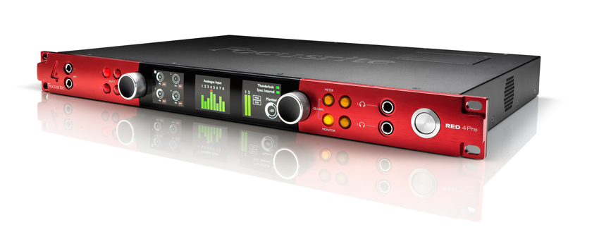 Focusrite Announce Red4 Pre Interface With 2 Thunderbolt, DigiLink And Dante Connectivity