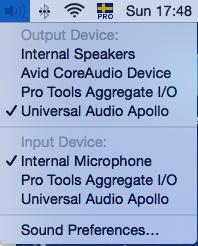 Mac audio preferences