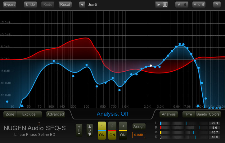 Nugen Audio's SEQ-ST Spline EQ With Filter Morphing, Stereo