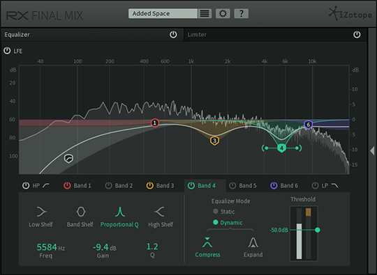 iZotope RX Final Mix Eq Module