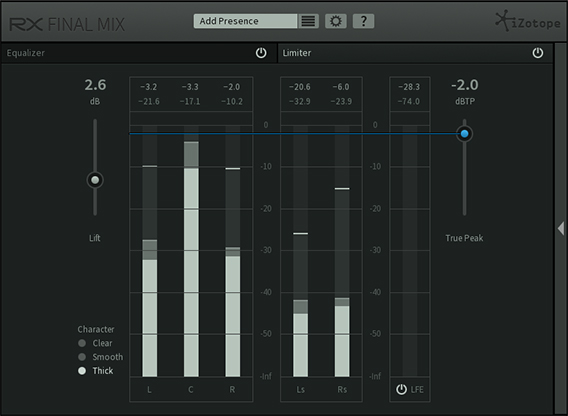 iZotope RX Final Mix Limiter Module