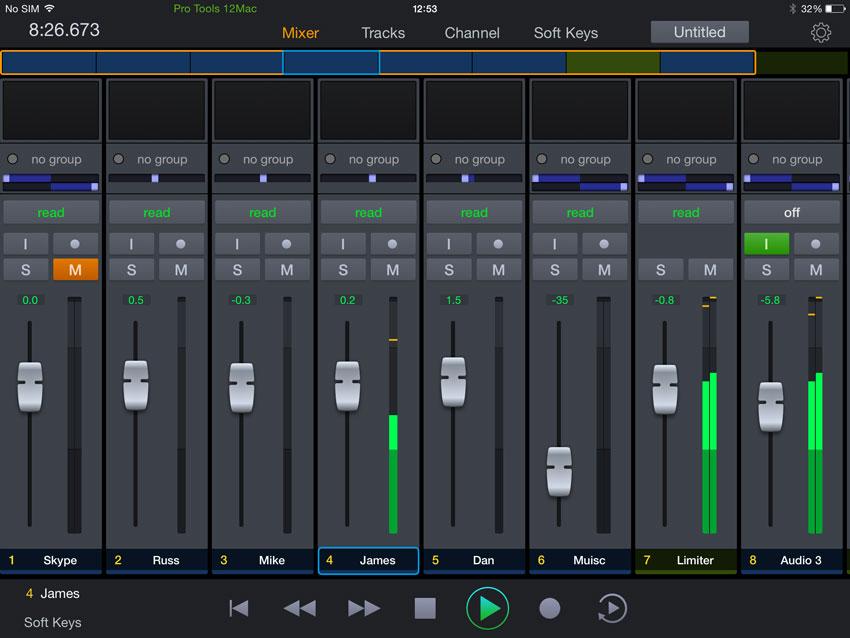 Avid-Pro-Tools-Control-App-Mixer-page