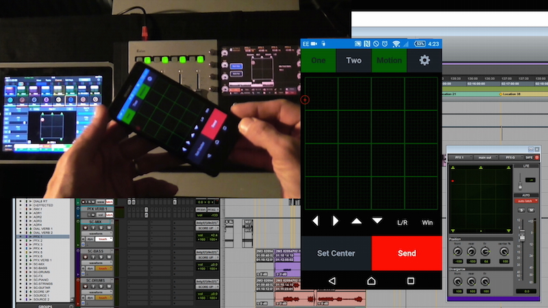 Neyrinck V-Panner & Artist Control & Pro tools Control iPad