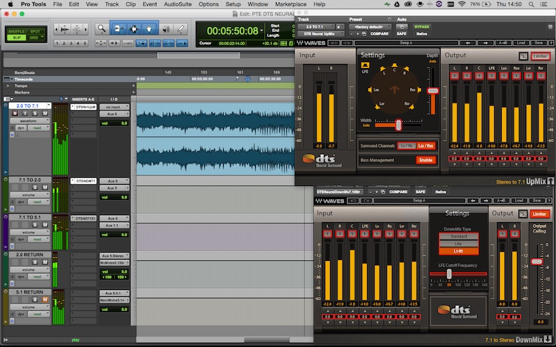 Waves DTS Neural 2.0 to 7.1 to 5.1 and 2.0 Mac