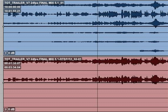 DTS Neural 5.1 to 2.0 Audiosuite Downmixer Result