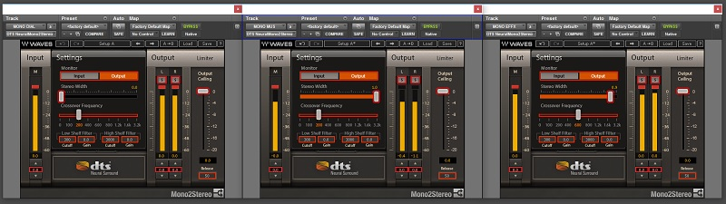DTS Neural Mono to Stereo Plugins