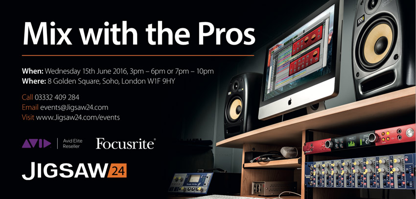 Jigsaw24 Announce 4th Mix With The Pros Event On 15th June 2016