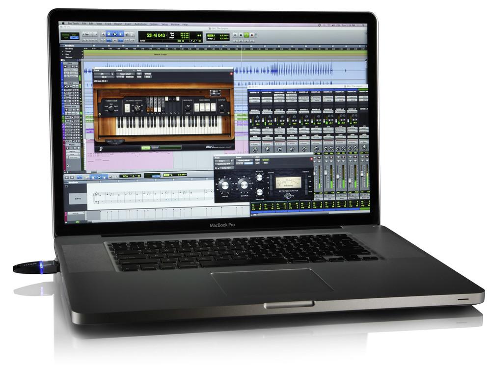Pro Tools laptop