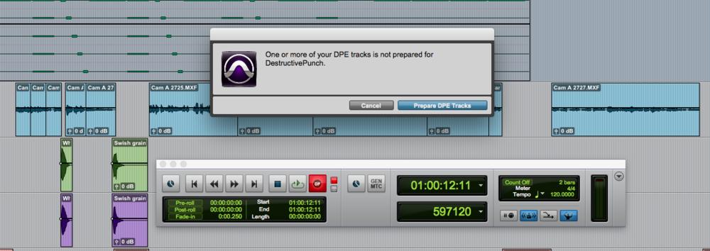 Prepare DPE Tracks