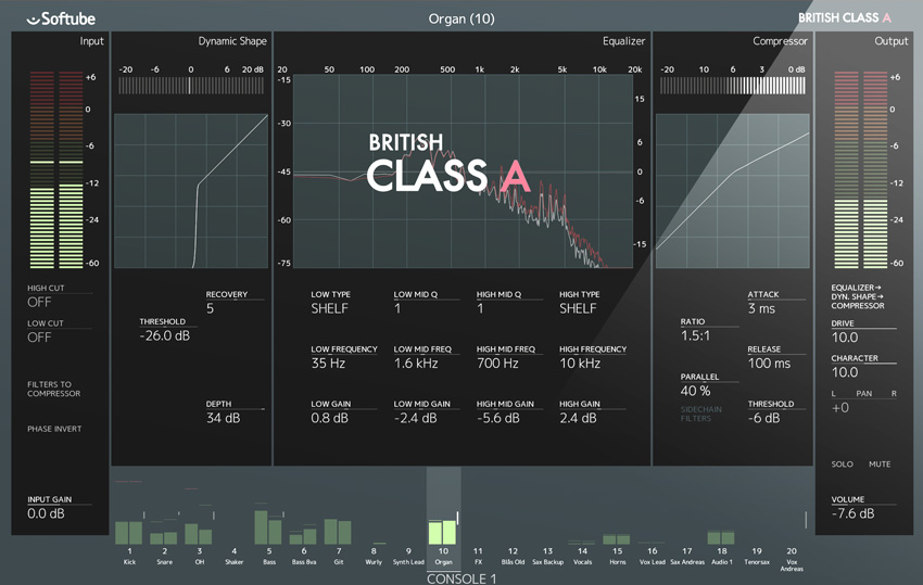 Softube Announce British Class A Plugin For The Console 1