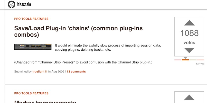 Plug in chain Ideascale