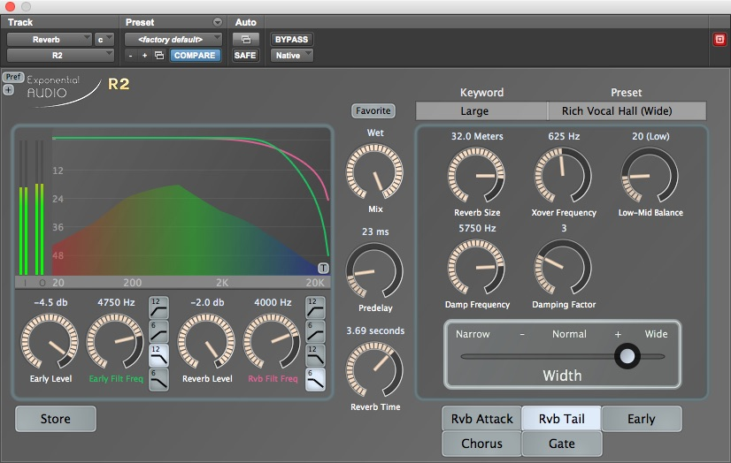 Exponential Audio R2 Reverb plug-in