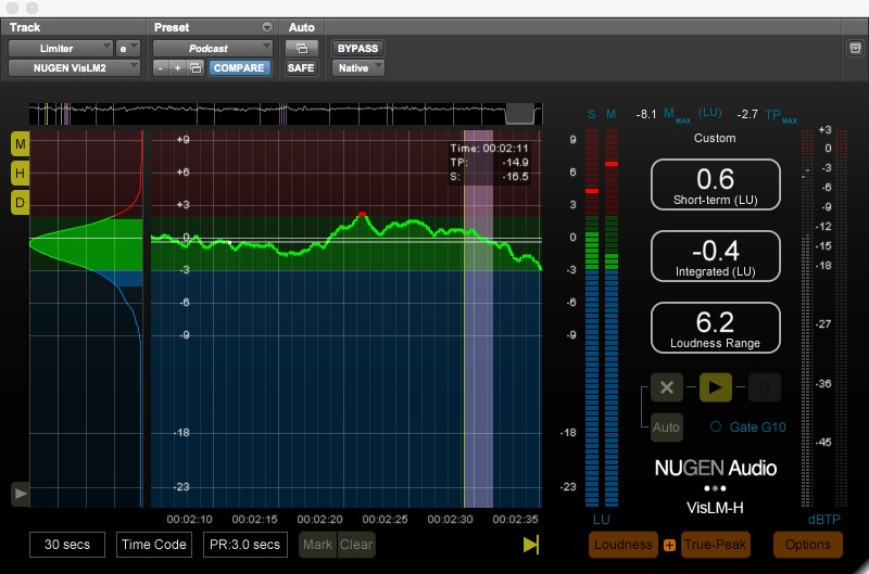 Nugen Audio VisLM 2 loudness meter plugin