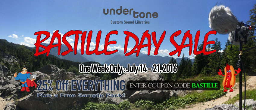 Undertone Sound Library Offering 35% Off All Libraries For 1 Week