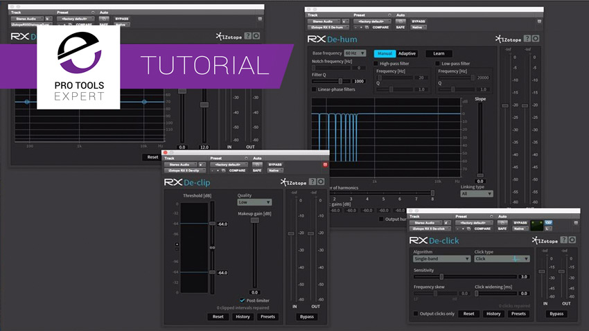 Video Series - How To Use iZotope's RX Plugin Pack From Mr RX It