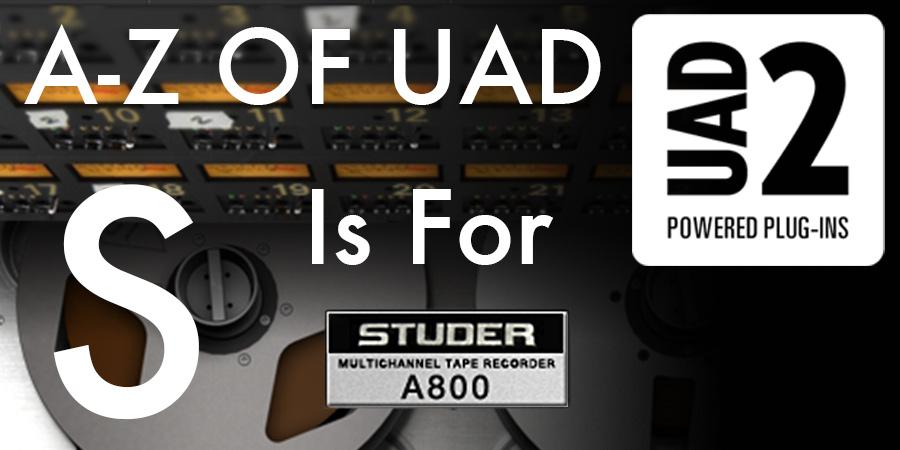 UAD Studer A800 Banner