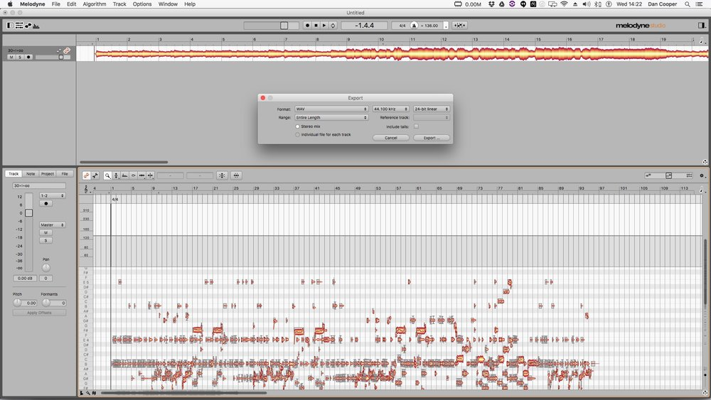 8. File > Export > Stereo Audio File (Import to Pro Tools)